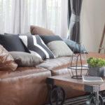 canapé cuir brun