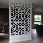 claustra alu blanc motifs cubes