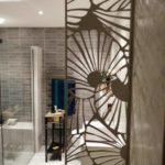 claustra alu brun motif floral
