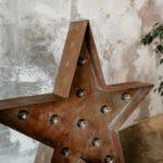 étoile en fer vieilli style industriel