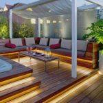 terrasse en ruban lumineux