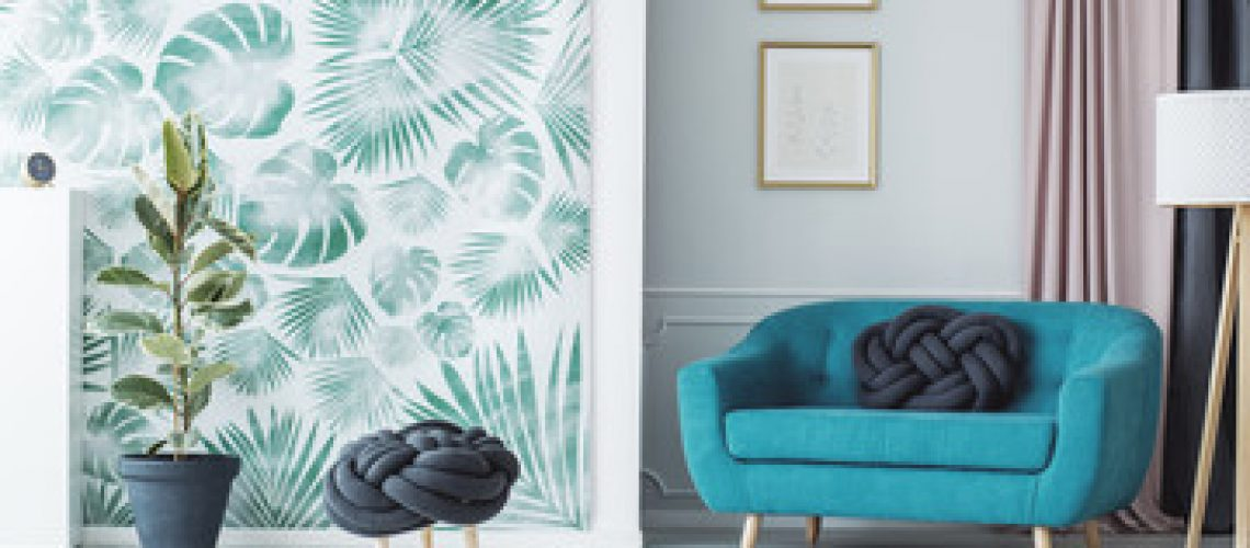 decor tropical feuilles vertes